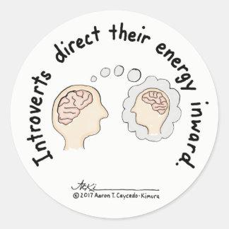 Introvert Basics: Energy Inward Sticker