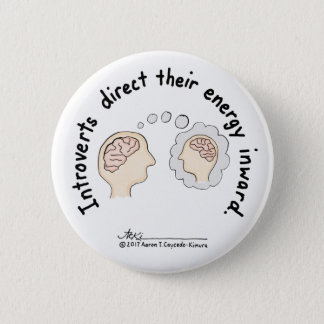 Introvert Basics: Energy Inward White Button