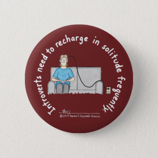 Introvert Basics: Recharge Burgundy Button