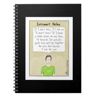 Introvert Delay Black Notebook