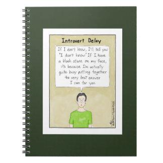 Introvert Delay Dark Green Notebook