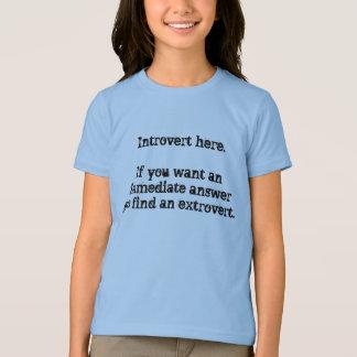 Introvert here. T-Shirt