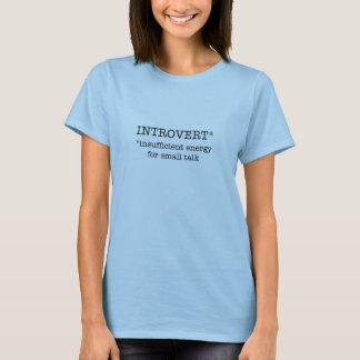 INTROVERT insufficient energy women's t-shirt