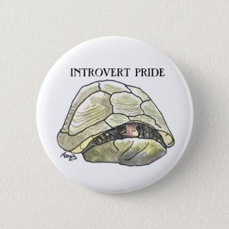 Introvert pride turtle button