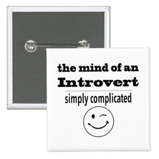 Introverts Are Simply Complicated 2 Inch Square Button