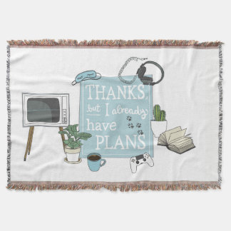 Introvert's Plans Throw Blanket