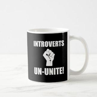 Introverts Un Unite Basic White Mug