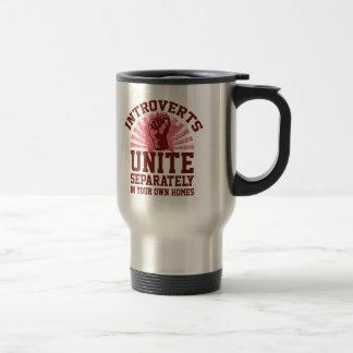Introverts Unite 15 Oz Stainless Steel Travel Mug