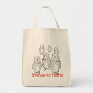 Introverts Unite! Grocery tote