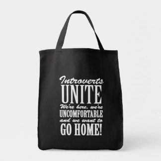 Introverts - We Just Want To Go Home Tote Bag