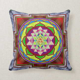 Intuition Sri Yantra I Throw Pillow