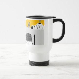 inuit, igloo man travel mug