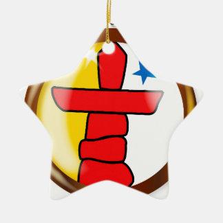 Inuit Proud Flag Button Ceramic Star Ornament