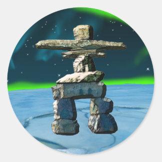 Inukshuk Native American Spirit Stones Sticker