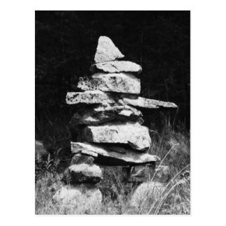 Inukshuk Stands Strong Postcard