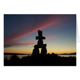 Inukshuk Sunset Card