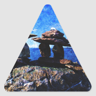 Inukshuk Triangle Sticker