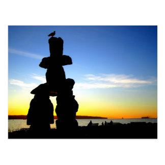 Inukshuk, Vancouver, AVANT JÉSUS CHRIST, le Canada Cartes Postales