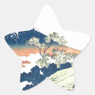 Inume Pass in Kai Province - Katsushika Hokusai Star Sticker