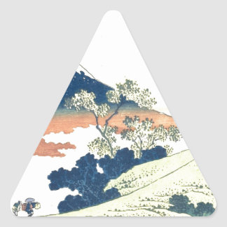 Inume Pass in Kai Province - Katsushika Hokusai Triangle Sticker