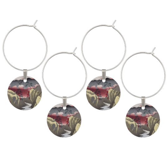 Inume Pass in Kai Province. Wine Glass Charms