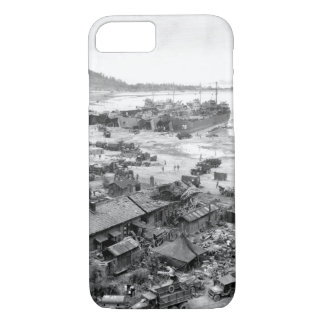 Invasion of Ichon, Korea. Four LST's_War Image iPhone 7 Case