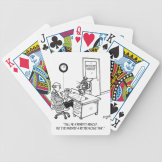 Inventor Cartoon 1932 Bicycle Playing Cards