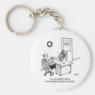 Inventor Cartoon 1932 Keychain