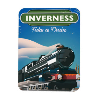 inverness scotland locomotive travel poster magnet