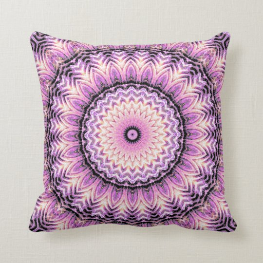 Invert Jade Mandala Throw Pillow