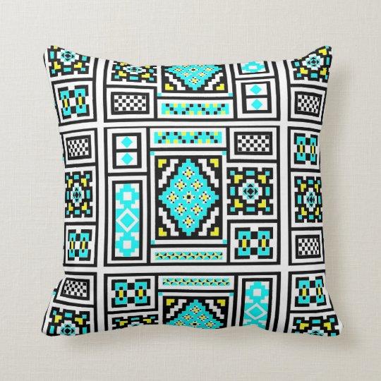 Invert Mirrored Mosaic 2 Throw Pillow