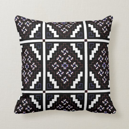 Invert Mirrored Mosaic 3 Throw Pillow