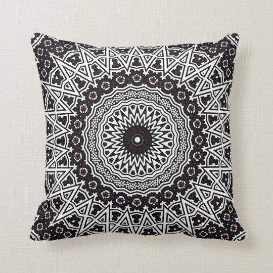 Invert Mosaic Mandala Throw Pillow