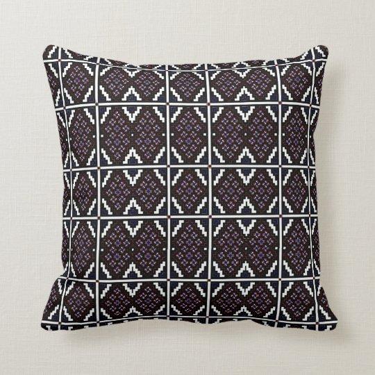 Invert Mosaic Wallpaper 2 Throw Pillow