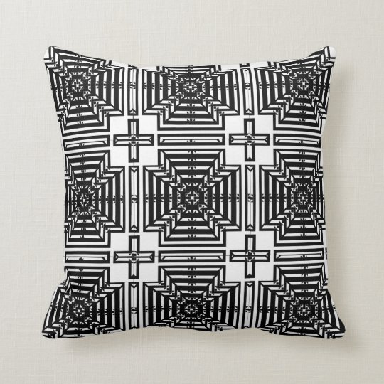 Invert Reflect Wallpaper Throw Pillow
