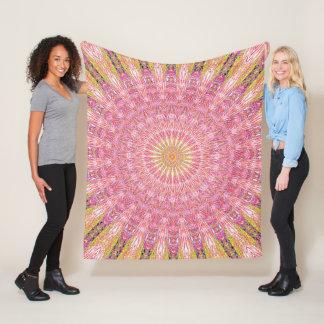 Invert Water Mandala Fleece Blanket