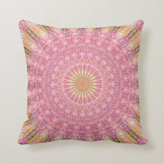 Invert Water Mandala Throw Pillow