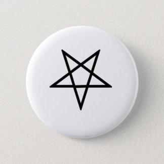 Inverted Black Pentagram 2 Inch Round Button