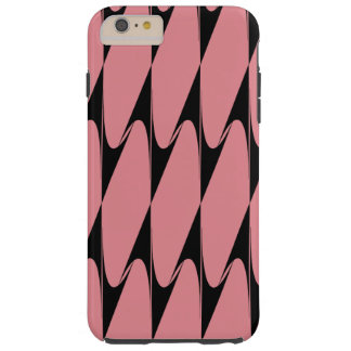 Inverted Chevron Black Pink Modern iPhone Case 2