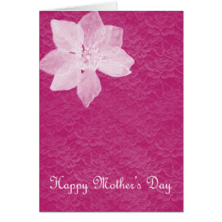 Inverted Color Floral Mothers Day Card