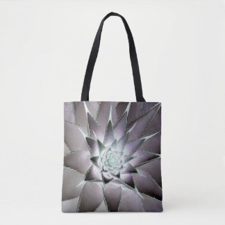 Inverted Colour Succulent Tote Bage