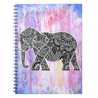Inverted Elephant on Watercolor Notebook