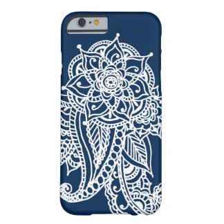 Inverted Henna Tattoo on Navy Barely There iPhone 6 Case