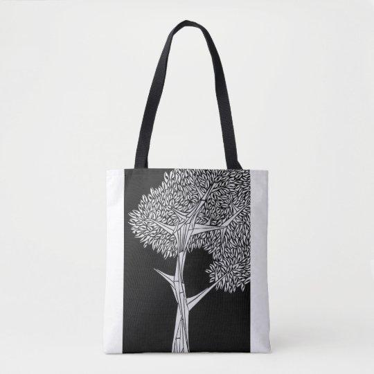 Inverted Oak Tree Tote Bag