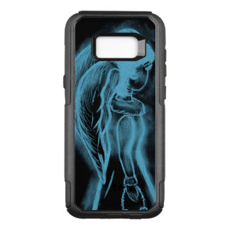 Inverted Sideways Angel in Black and Light Blue OtterBox Commuter Samsung Galaxy S8+ Case
