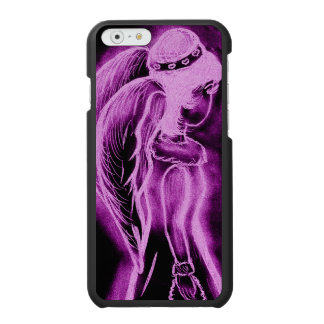 Inverted Sideways Angel in Pink and Black Incipio Watson™ iPhone 6 Wallet Case