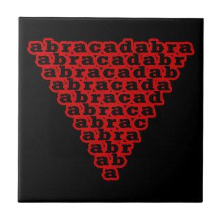 Inverted Triangle Abracadabra Tile