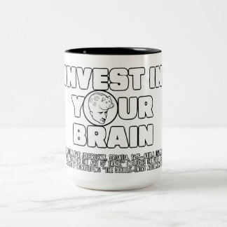 Invest In Your Brain Two-Tone Mug