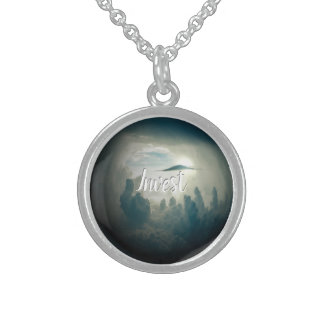 Invest is your intention sterling silver necklace