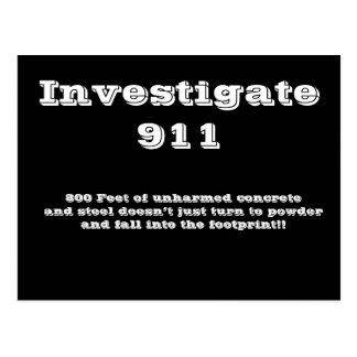 Investigate 911 postcard
